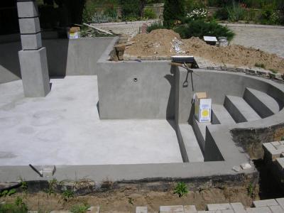 монолитный бассейн для дачи